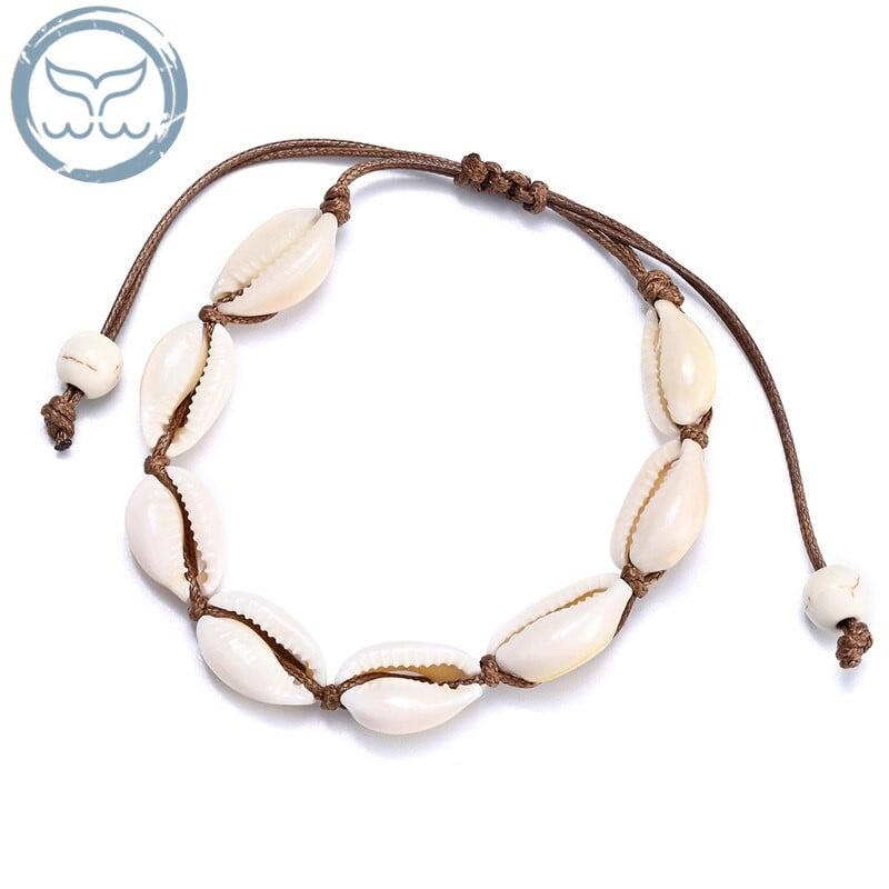 bracelet cauri marron