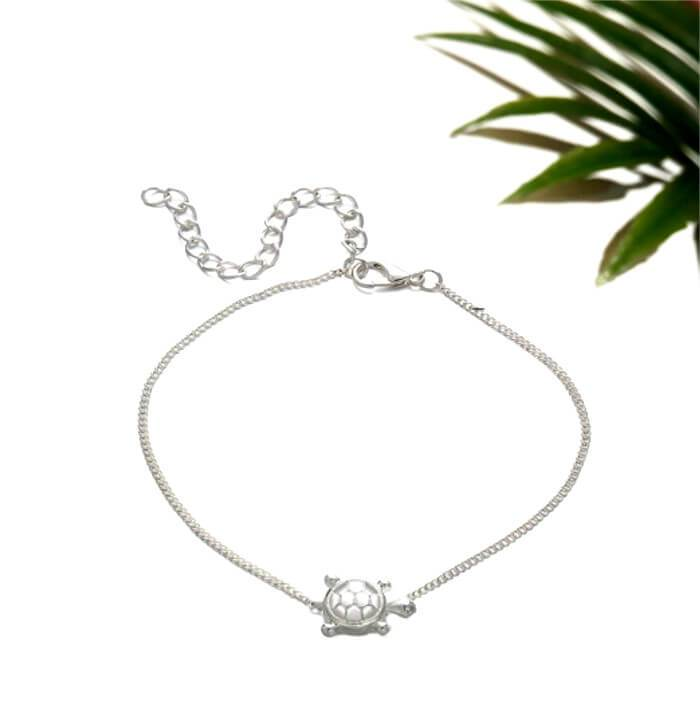 Bracelet de cheville tortue Silver Turtle - Instinct-ocean