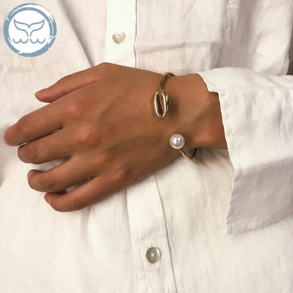 Bracelet coquillage avec perle