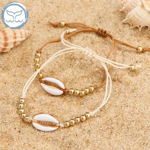 Bracelet coquillage et perles