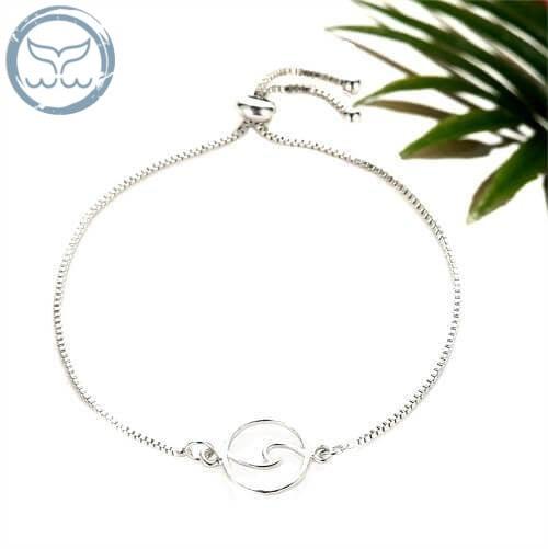bracelet vague argent