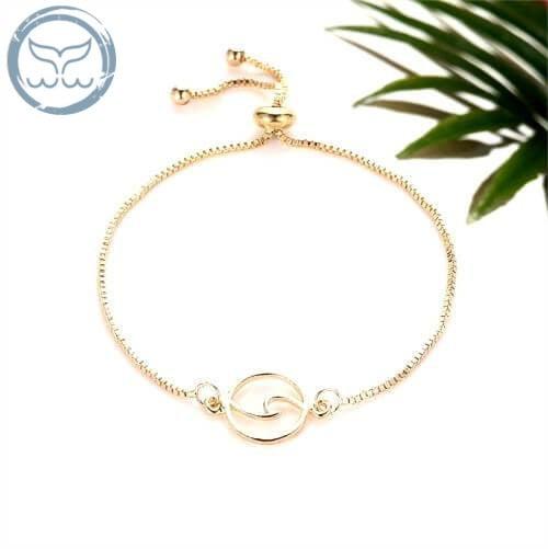Bracelet vague argent ou or