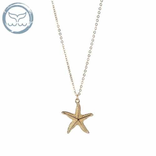 collier coquillage étoile de mer