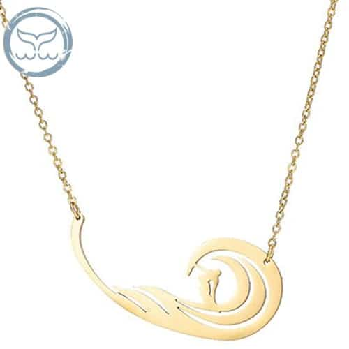 collier surf vague or