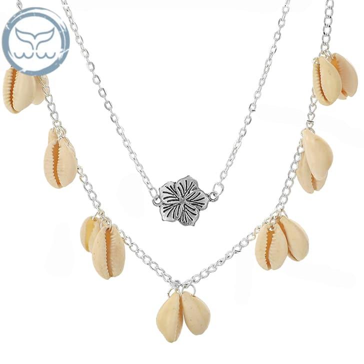 collier coquillage fleur de tiare