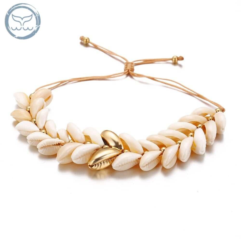 Bracelet Coquillage Africain